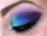 purple dramatic makeup
