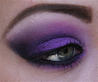 purple makeup evening
