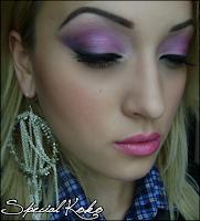 purple evening makeup