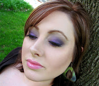simple purple makeup