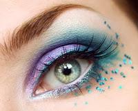 purple arabic makeup