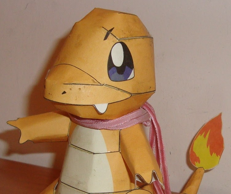 Charmander De Pokemon Papercraft