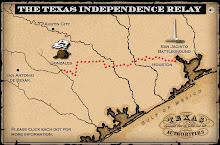 Texas Independence Relay Map