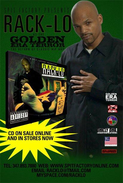 """RACK-LO """"GOLDEN ERA TERROR VOL.2"""" ON SALE NOW @ WWW.SPITFACTORYONLINE.COM"""