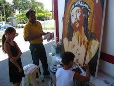"""Reproduzindo a obra """" Cabeça Coroada"""" de Guido Reni"""