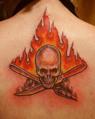 tatuajes y sus riesgos. un tatuaje que involucre fuego deberá saber algunos de sus simbolismos.