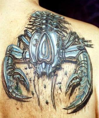 tatuajes de leon larregui. los mejores tatuajes de animales. Foto Bazar: tatuajes escorpión y alacrán
