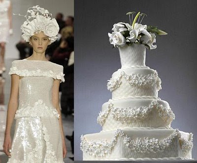Check out these Chanelinspired wedding cakes Channel wedding dress and