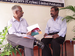 Diamond jubili vetaran writer Theliwatta Joseph in conversation with R.Shadagopan