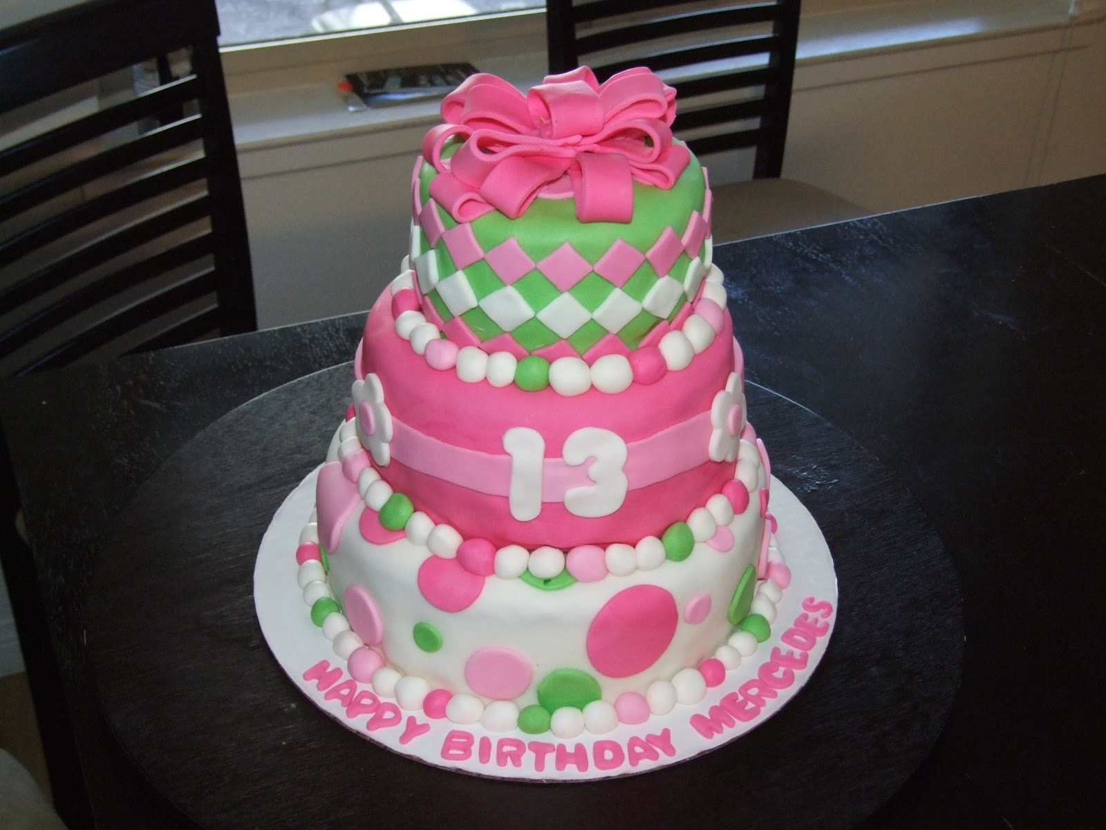 13th Birthday Cake For A Young Lady