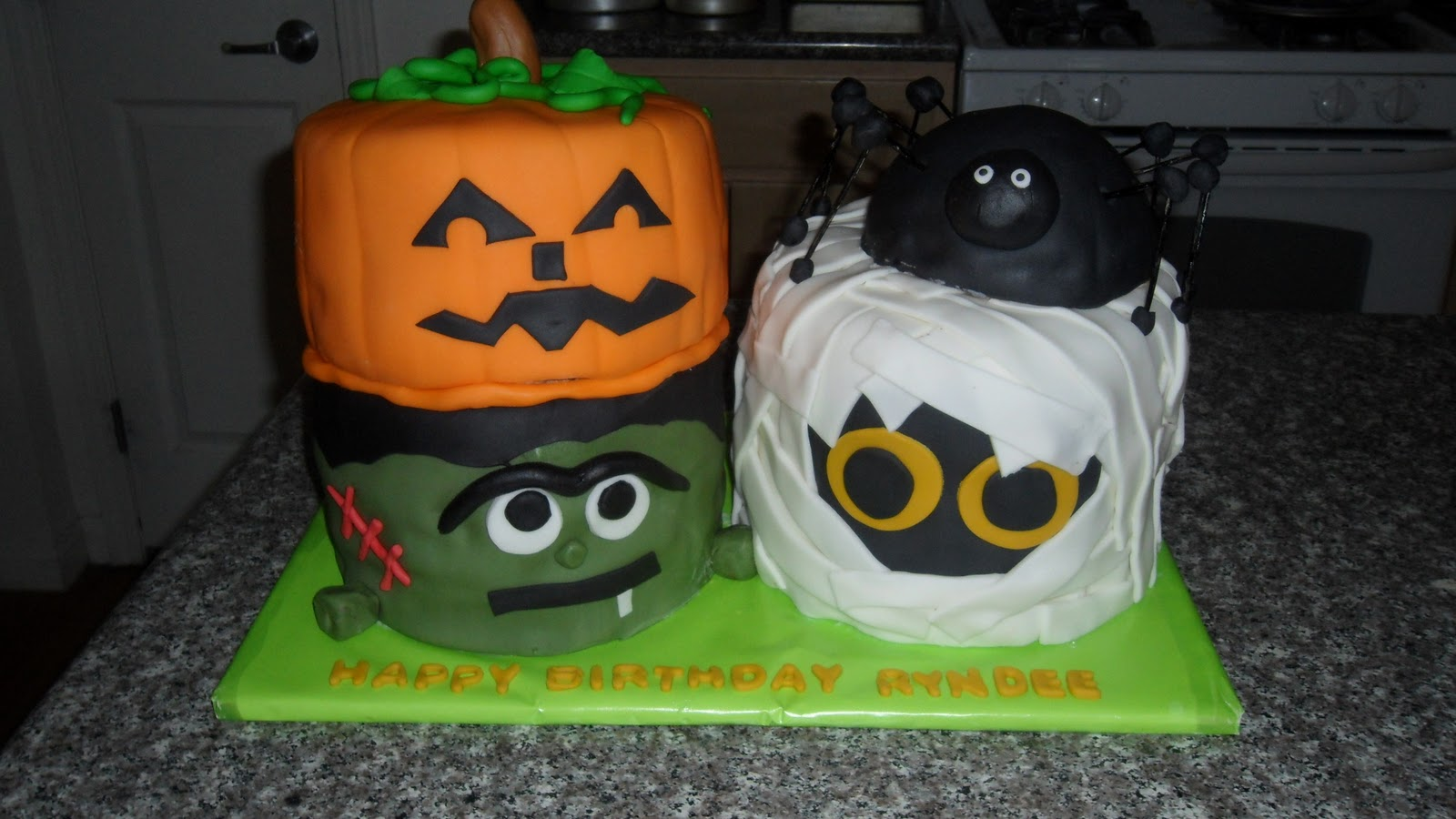 Three Sweet Cakes Halloween Birthday Cake