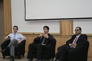 (left to right) Ryan Connoly, Maziar Daghighi Masouleh and Paul Linus participated in the Forum