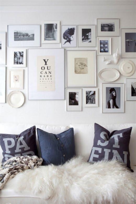 Photo Frame Wall express-o: home inspiration: frame wall