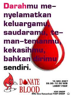Donor Darah Penting, Mengapa??