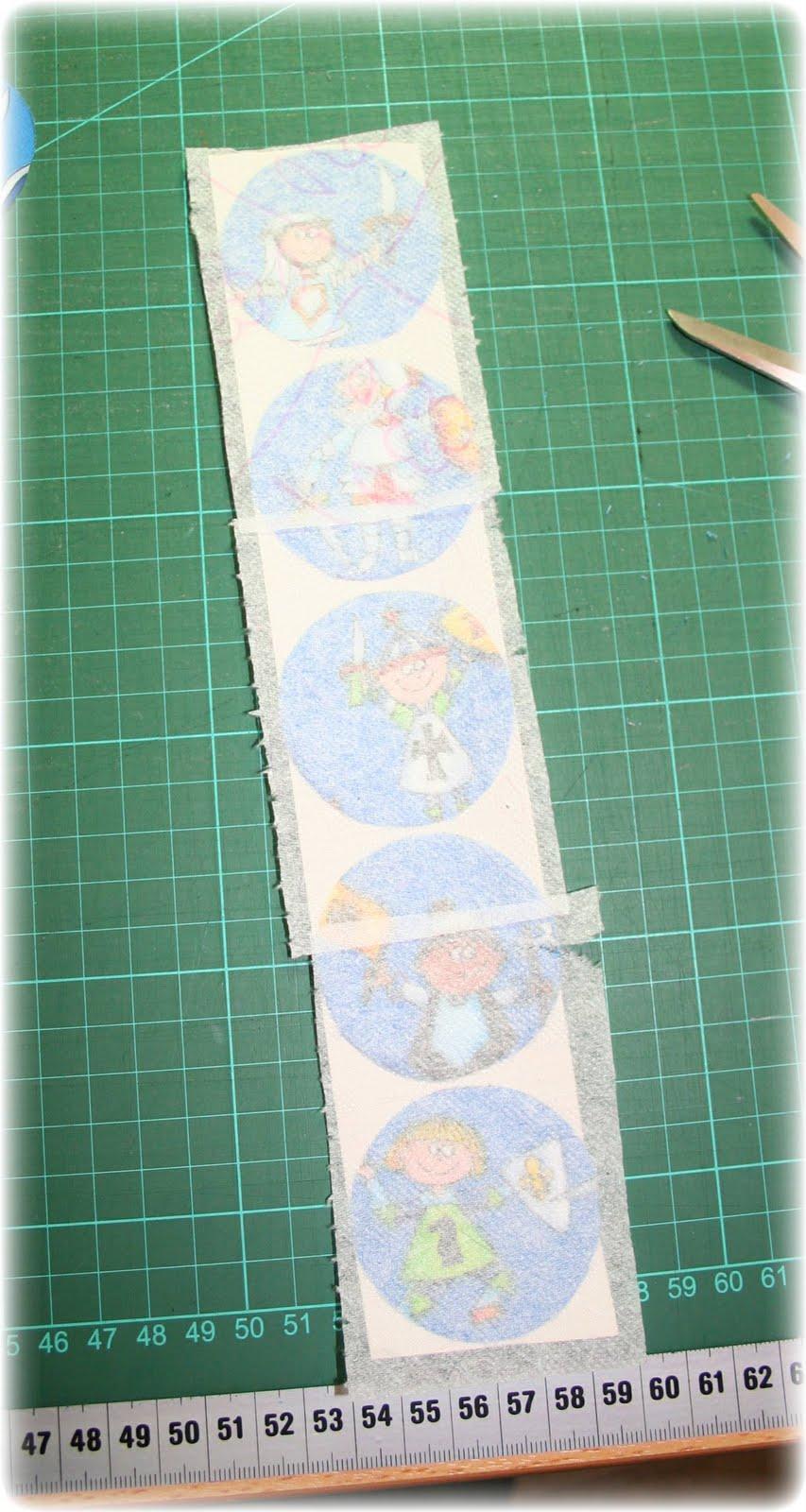 By susuko medaillen f r kindergeburtstag for Durchsichtige klebefolie