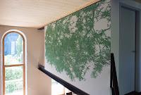 Richard Müller: Peinture murale Ramosch aquarelle sur mur