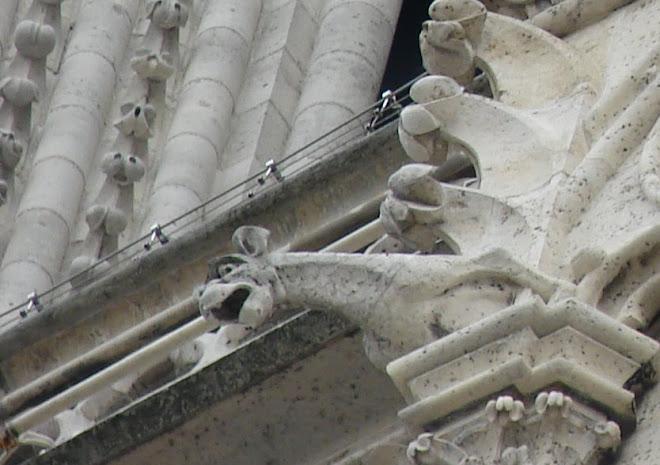 Gárgula da Catedral de Notre-Dame de Paris.