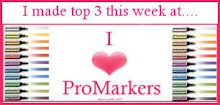 Made the top three on the I ♥ Promarkers challenge blog