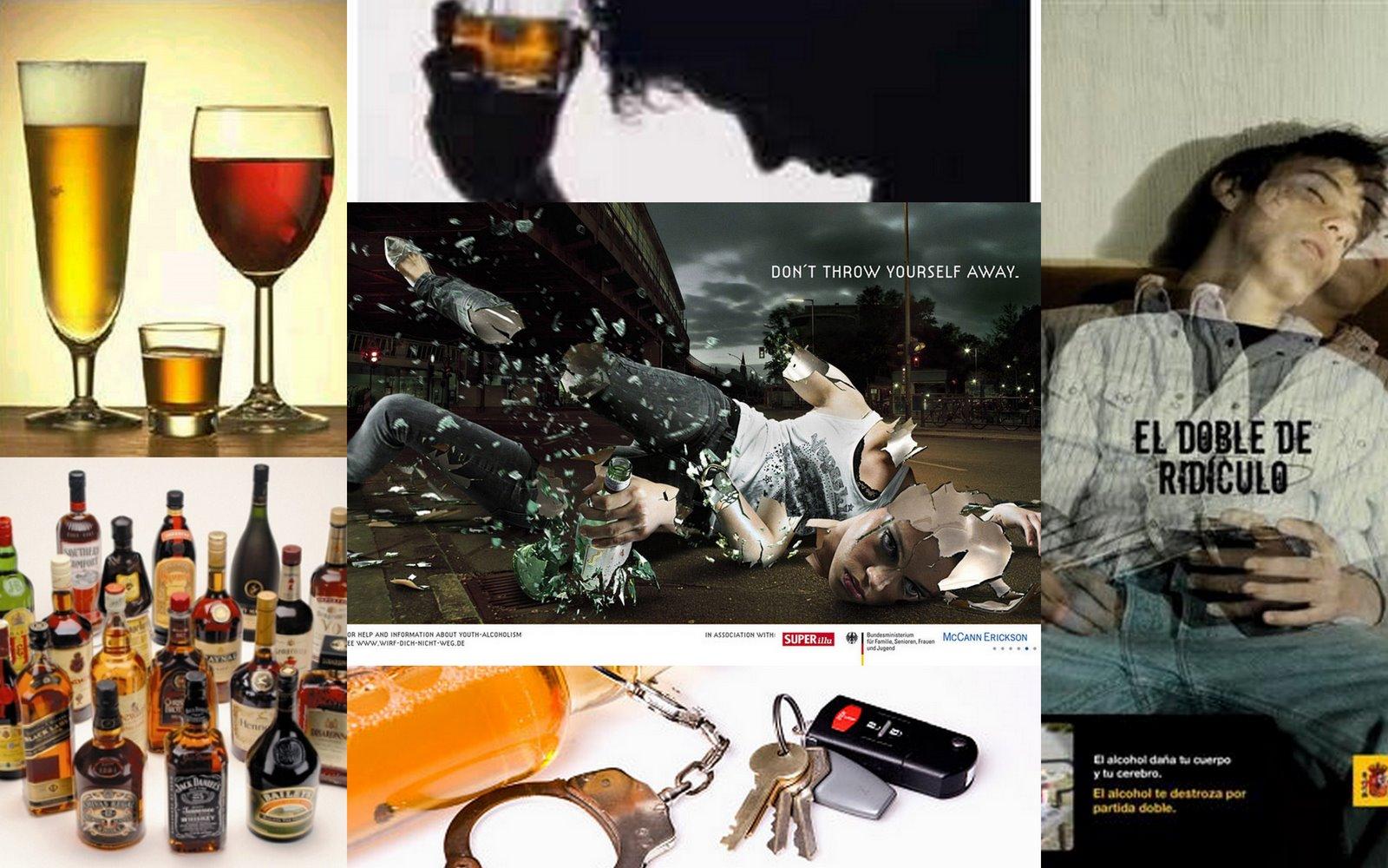 Los medios de atar con el alcohol