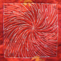 poinsettia free motion quilting