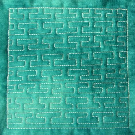 The Free Motion Quilting Project Day 51 Greek Key