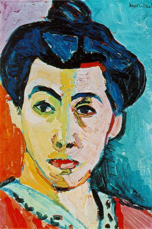 Madame Matisse o Raya verde, 1904