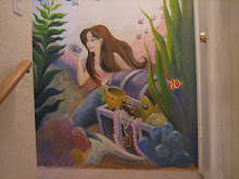 <b>Mermaid Mural at Ocean Rose Cottage </b>