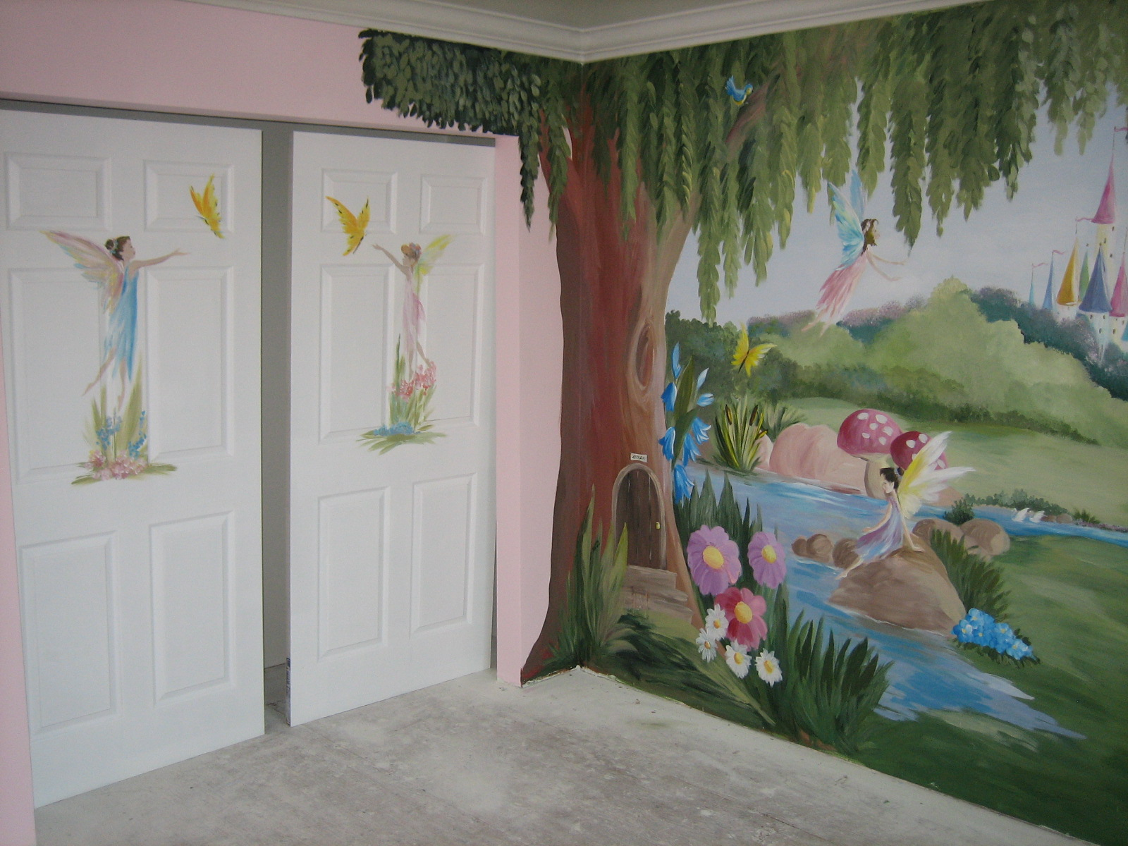 Ramya black fairy land for Children room mural