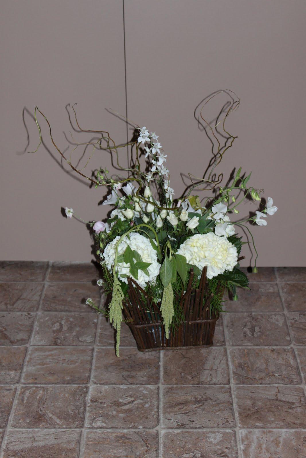 Daffodil floral designs modern rustic reception centerpieces