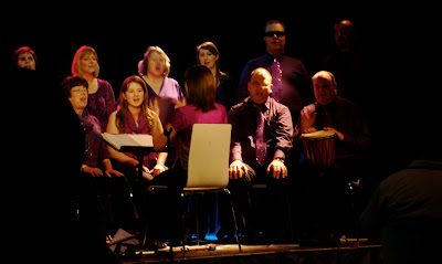 Open Arts Community Choir singing at Out To Lunch arts festival 2010