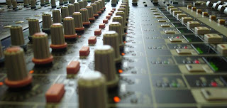 View of a sound desk at Whitewell