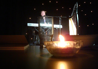 Performing at the launch of the tenth Cathedral Quarter Arts Festival in Belfast's Black Box