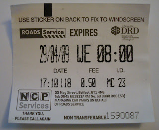 Erroneous pay and display parking ticket