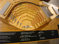 Display showing the make up of the Scottish Parliament