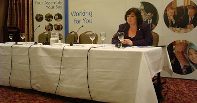 Dawn Purvis (PUP) - the lone MLA to turn up for the panel at the NI Assembly roadshow in East Belfast