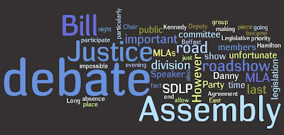 Wordle: Northern Ireland Assembly Roadshow party responses - www.wordle.net