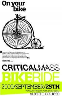 Critical Mass Belfast poster