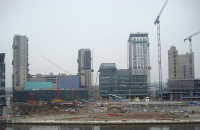 MediaCityUK emerges at Salford Quays in Manchester - October 2009