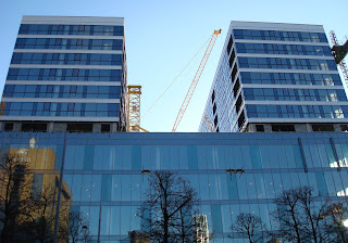 Cranes in Lanyon Place