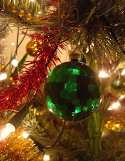 Christmas tree bauble hanging on with a papercip - Pizzarellys