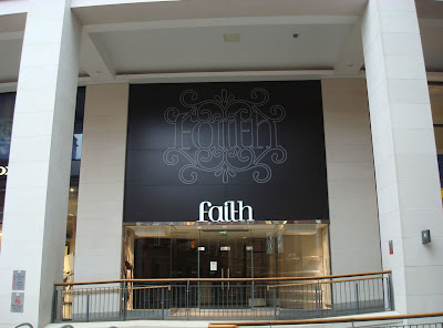 Photo of now-empty Faith store in Belfast's Victoria Square