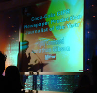 Commended spelt incorrectly on-screen at CIPR Press and Broadcast Awards 2010