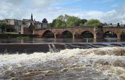 River Nith was swollen in Dumfries