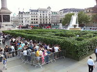 Maze built in London's Trafalgar Square