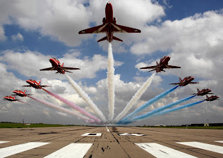 Red Arrows publicity shot - Crown Copyright