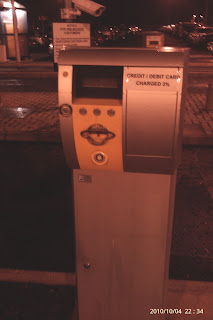 Parking machine at long term car park at Belfast International Airport