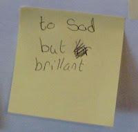 Comment left on a Post-It note at the Anne Frank [+ you} exhibition running during October in Lisburn Library