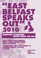 East Belfast Speaks Out leaflet