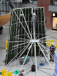 Victoria Square conical Christmas Tree construction