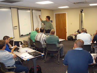 Dave Smith from Pentair giving training on Fleck valves